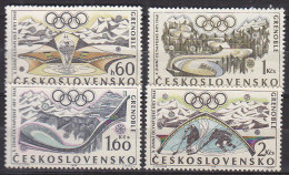 L3431 - TCHECOSLOVAQUIE Yv N°1615/18 ** OLYMPIADES - Unused Stamps