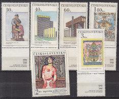 L3445 - TCHECOSLOVAQUIE Yv N°1641/46 ** ART ARCHITECTURE - Nuevos