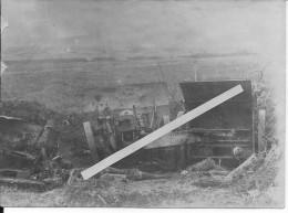 Position D'artillerie Allemande Canon De 77mm Détruit Paniers à Obus En Osier 1 Photo 14-18 Ww1 WwI Wk - War, Military