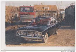Au Plus Rapide Photo Voiture Ancienne Ford Zodiac Et Camion Scania Pas De Calais - Automobile