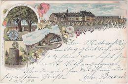 22199g BAHNHOF - St-JOSEPH KLOSTER - BÜCHELER THURM - LINDEN Mit KREUZ - Gruss Aus St- Vith - Mosaïque - Saint-Vith - Sankt Vith