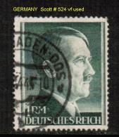 GERMANY    Scott  # 524 VF USED - Germany