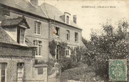 76 Incheville. L'ecole Et La Mairie - France