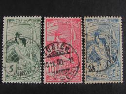 "SUIZA-Svizzera-Switzerlan D -1900- ""UPU"" Cpl. 3 Val. US° (descrizione) - Oblitérés"