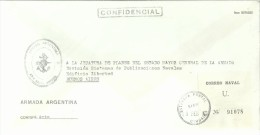 ARGENTINA CORREO OFICIAL NAVAL ARMADA EN FRANQUICIA AREA NAVAL AUSTRAL USHUAIA - Filatelia Polar
