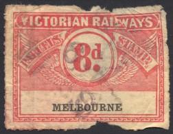 Victorian Railways, 8 P. 1917, Used - Usati