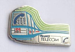 Pin's  France Télécom  - RAME DE METRO  - Zamac - Pichard - D699 - France Telecom