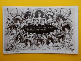 Pretty Edwardian Actresses *Vintage* RP Postcard 1905 Daffodils - Théâtre