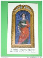 S.LUCIA V.M.Siracusa Sicilia - Statua Chiesa S.Michele In Foro LUCCA - Santino - Images Religieuses