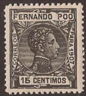 FP00158-L4180TCFR.Guinee.Guinea Español.ALFONSO Xlll.FERNANDO POO. 1907 (Ed 158**) Sin Charnela.MAGNIFICO. - Familias Reales