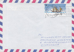 Spain Airmail Por Avion TENERIFE 1998 Cover Letra ALBERTSLUND Denmark ATM / Frama Label - Luftpost