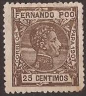FPOO159-L4179TIO.Guinee.Gui Ea Español.ALFONSO Xlll.FERNANDO POO. 1907 (Ed 159**) Sin Charnela.MAGNIFICO. - Infancia & Juventud