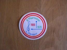 SINT MAARTENKOOR Stevoort  Chorale 1969 1979  Souvenirs Autocollant Sticker Autres Collections - Autocollants