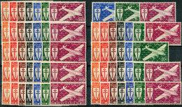 Colonies RF 1941/45.  MNH/Luxe. Airplanes. Omnibus - 13 Countries. - Frankreich (alte Kolonien Und Herrschaften)