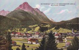 AK Mittenwald Mit Wetterstein - Bayerisches Hochland - 1928 (5151) - Mittenwald
