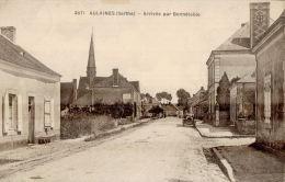 CPA BONNETABLE  , AULAINES  , Arrivée Route De Bonnétable ( Voiture ) - Bonnetable