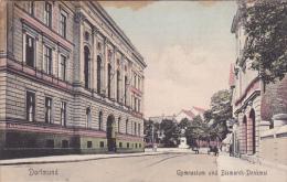 DORTMUND, Gymnasium Und Bismarck-Denkmal, North Rine-Westphalia, Germany, PU-1908 - Dortmund