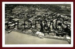 GUINE-BISSAU - VISTA AEREA - AVENIDA MARGINAL - 1950 REAL PHOTO PC - Guinea-Bissau