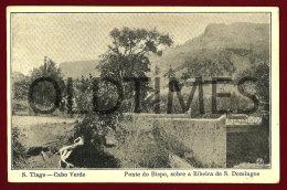 CABO VERDE - SAO TIAGO - PONTE DO BISPO SOBRE A RIBEIRA DE SAO DOMINGOS - 1920 PC - Cap Vert