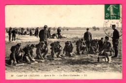 Camp De Châlons - Après Le Tir - Les Etuis à Cartouches - Animée - Dos Vert - L.L. - Camp De Châlons - Mourmelon