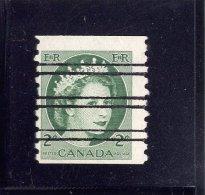 CANADA, 1954,   USED  #345XX,Q E 11, WILDING PORTRAIT COIL,   USED WYSIWYG - Canada