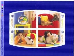 2004  Pets: Fish, Cats, Rabbit, Dog  Sheet From Booklet  Sc 2057-2060  MNH ** - Full Booklets
