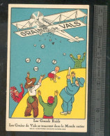 Image Publicitaire GRAINS VALS  - Avion - Old Paper