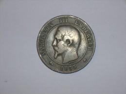 Francia 10 Centimos 1855 BB (5371) - D. 10 Céntimos