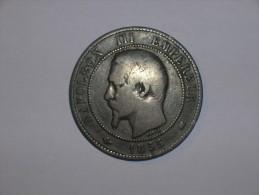 Francia 10 Centimos 1855 K (5372) - Francia