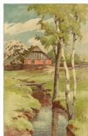 S653 - Dessin - Maison, Arbre, Ruisseau - Cartes Postales