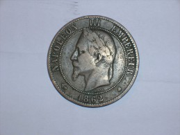 Francia 10 Centimos 1862 A (5377) - D. 10 Céntimos