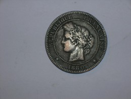 Francia 10 Centimos 1880 A (5380) - D. 10 Céntimos