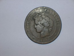 Francia 10 Centimos 1885 A (5382) - D. 10 Céntimos