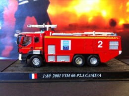 COLLEZIONE CARRI DEI POMPIERI - VIGILI DEL FUOCO DEL PRADO - FRANCIA 2001 VIM 60 P 2.5 CAMIVA SCALA 1:80 - Cars & 4-wheels
