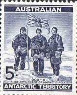 Australian Antarctic 1959  5d Blue Explorers MH - Unused Stamps
