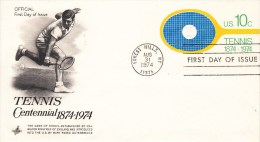 TENNIS, USA, 1974, FDC / Special Postmark !! - Tennis
