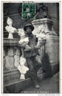 75- Le Marchand De Plâtres-Bustes De Femmes  Photo SEEBERGER - Marchands