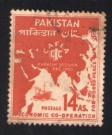 Pakistan 1960 Oblitéré Used Stamp CAFEA Meeting à Karachi - Pakistan