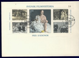 DV1-35b SWEDEN 1981 FDC YV M/S, BLOCK 9 HISTORY OF SWEDISH CINEMA, INGMAR BERGMAN. - Cinema