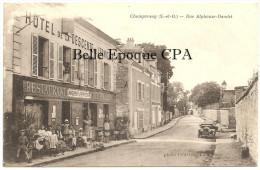 91 - Draveil / CHAMPROSAY - Rue Alphonse Daudet +++ Photo Le Pelletier, Le Perray ++ 1916 +++ RARE / JAMAIS Sur Delcampe - Draveil