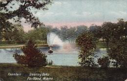 Fountain Deering Oaks Portland Maine