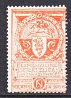 ITALY   VIGNETTE  MILANO  EXPO.  1906  ** - Italy