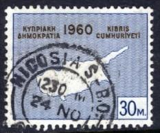 CYPRUS - 1960 30 MILS DEFINITIVE USED SG 204 - Cyprus (...-1960)