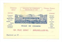 Carte De Visite - Michel PANTELIS - éponges, Peaux De Chamois,..BRUXELLES (y320)b146 - Visiting Cards