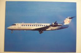 CARTE COMPAGNIE / AIRLINE ISSUE      CRJ  200LR   GEORGIAN NATIONAL - 1946-....: Moderne