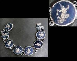 Ancien Petit Bracelet Du Siam / Old Siam Divinities Silver Bracelet - Bracciali