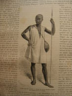 Nubien Nubia - Nubie  - Kassala - Soldat Takrouri    M.G. Lejean -   Engraving 1864 TdM1862.6 - Stiche & Gravuren