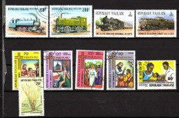 Togo 10 Timbres Oblitérés Et Neufs - Togo (1960-...)