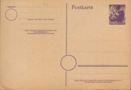 Germany/allied Occupation,Soviet Zone-Rare!, Postal Stationery Postcard Unused 1945 - P4, 6pf, Lila, Abklatsch - 2/scans - Zone Soviétique