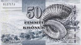 Faroe Island 50 Kronur 2002 Pick 24 UNC - Färöer Inseln